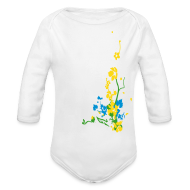 Baby & Toddler Shirts ~ Baby Long Sleeve One Piece ~ Spring has sprung/front and back