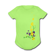 Baby & Toddler Shirts ~ Baby Short Sleeve One Piece ~ Spring has sprung/front and back