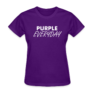 Women's T-Shirts ~ Women's Standard Weight T-Shirt ~ Purple Everyday - Ladies