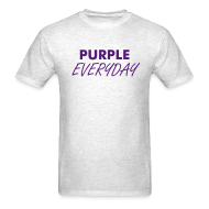 T-Shirts ~ Men's Standard Weight T-Shirt ~ Purple Everyday - Mens
