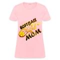 Softball Mom (flame) Women's T-Shirts