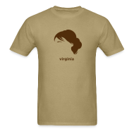 T-Shirts ~ Men's Standard Weight T-Shirt ~ [Virginia_Woolf]