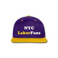 Caps ~ Snap-back Baseball Cap ~ NYC Laker Fans Flat brim hat