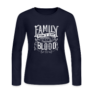 Long Sleeve Shirts ~ Women's Long Sleeve Jersey T-Shirt ~ Family [DESIGN BY TINTIN]