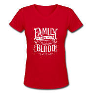 Women's T-Shirts ~ Women's V-Neck T-Shirt ~ Family [DESIGN BY TINTIN]