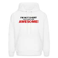 Hoodies ~ Men's Hooded Sweatshirt ~ I'm Not Short I'm Concentrated Awesome