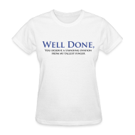 Women's T-Shirts ~ Women's Standard Weight T-Shirt ~ Well Done You Deserve A Standing Ovation From My Tallest Finger