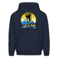 Hoodies ~ Men's Hooded Sweatshirt ~ Denver - Blue and Yellow - Hoodie