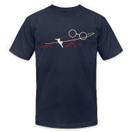 T-Shirts ~ Men's T-Shirt by American Apparel ~ Navy TJ Boss Fight AA Tee