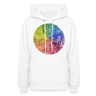 Hoodies ~ Women's Hooded Sweatshirt ~ color wheel doodle
