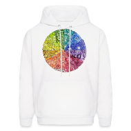Hoodies ~ Men's Hooded Sweatshirt ~ color wheel doodle