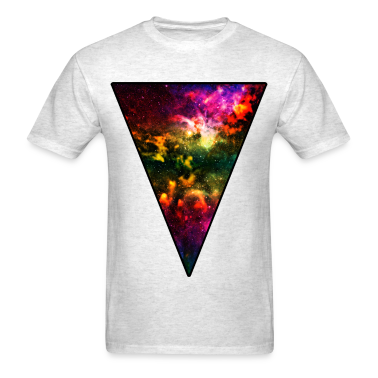 Colorful Galaxy Triangle T-Shirts