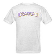 T-Shirts ~ Men's T-Shirt ~ ISSAQUAH - white, purple and gold