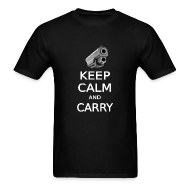 T-Shirts ~ Men's T-Shirt ~  KEEP CALM AND CARRY