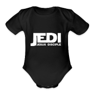 Baby & Toddler Shirts ~ Baby Short Sleeve One Piece ~ Jedi Baby One Piece