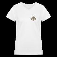 Women's T-Shirts ~ Women's V-Neck T-Shirt ~ Anchor Deep Your Soul - Deckhand - Womens