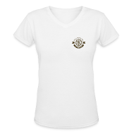 Women's T-Shirts ~ Women's V-Neck T-Shirt ~ Anchor Deep Your Soul - Deckhand - Womens