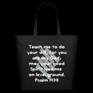 Bags & backpacks ~ Eco-Friendly Cotton Tote ~ Teach Me God