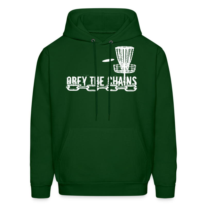 Adult Obey The Chains Disc Golf Hoodie - White Print