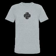 T-Shirts ~ Unisex Tri-Blend T-Shirt by American Apparel ~ Dark python logo on nice gray shirt