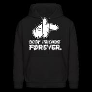 Hoodies ~ Men's Hooded Sweatshirt ~ best friends forever