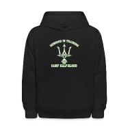 Sweatshirts ~ Kids' Hooded Sweatshirt ~ GLOW IN THE DARK DEMIGOD Kids Hoodie - Trident - Halloween Limited Edition