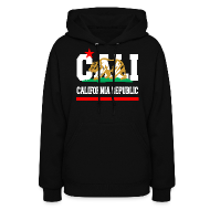 Hoodies ~ Women's Hooded Sweatshirt ~ California Republic New Golden
