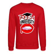 Long Sleeve Shirts ~ Men's Crewneck Sweatshirt ~ Fresh University Crewneck