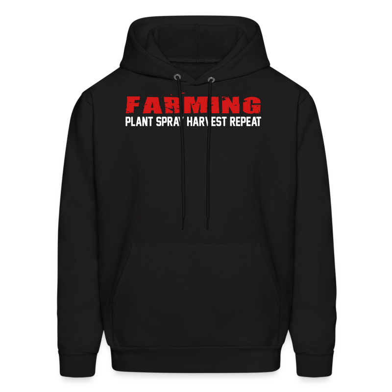Farming - Plant Spray Harvest Repeat - Mens Hoodie
