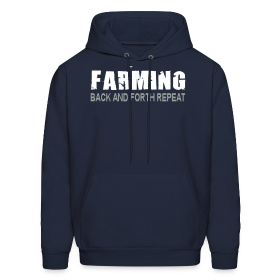 Farming - Back And Forth Repeat - Mens Hoodie