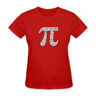 Women's T-Shirts ~ Women's T-Shirt ~ Pi by Numbers