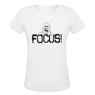 Women's T-Shirts ~ Women's V-Neck T-Shirt ~ Focus | Womens tee