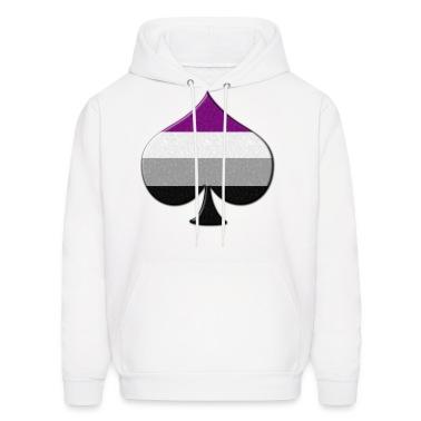 Asexual Pride - Spade Symbol Hoodies