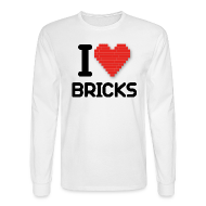 Long Sleeve Shirts ~ Men's Long Sleeve T-Shirt ~ I love Bricks (dd print)