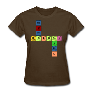 Women's T-Shirts ~ Women's T-Shirt ~ NEURO BIOLOGY GIRL - Periodic Elements Scramble!