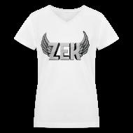 Women's T-Shirts ~ Women's V-Neck T-Shirt ~ ZexyZek Logo - Women
