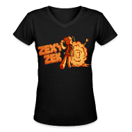 Women's T-Shirts ~ Women's V-Neck T-Shirt ~ Fire Zek - Women