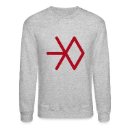 Long Sleeve Shirts ~ Men's Crewneck Sweatshirt ~ EXO SNOWFLAKE SWEATER (MEN)