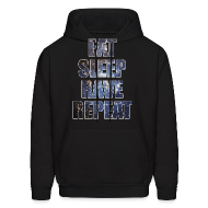 Hoodies ~ Men's Hooded Sweatshirt ~ Eat Sleep Rave Repeat Stars Hoodie Hoody Sweatshirt