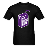 T-Shirts ~ Men's T-Shirt ~ NO ADDED JUICE (Purple Design) - Tee