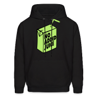 Hoodies ~ Men's Hooded Sweatshirt ~ NO ADDED JUICE (Green Design) - Hoodie