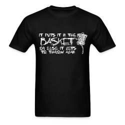 It Puts It In the Basket Disc Golf Shirt - Men's Heavyweight  Tee - White Print
