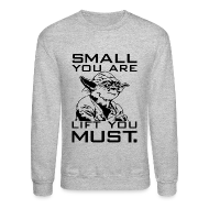 Long Sleeve Shirts ~ Men's Crewneck Sweatshirt ~ Small you are lift you must | Mens jumper