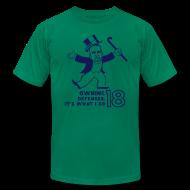 T-Shirts ~ Men's T-Shirt by American Apparel ~ Owning Defenses - Mens - T-shirt - Navy - 3XL / 4XL