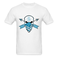 T-Shirts ~ Men's T-Shirt ~ American Skull Powder Blue