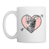 Bottles & Mugs ~ Coffee/Tea Mug ~ Tuna Heart Mug