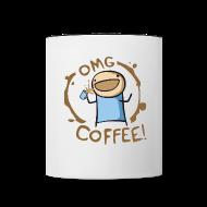 Bottles & Mugs ~ Contrast Coffee Mug ~ OMG COFFEE! Mug