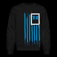 Long Sleeve Shirts ~ Men's Crewneck Sweatshirt ~ x's & stripes crew