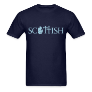 T-Shirts ~ Men's T-Shirt ~ Scottishigan Navy w/ Blue