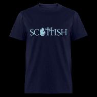 T-Shirts ~ Men's T-Shirt ~ Scottishigan Navy w/ Blue